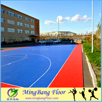 removable outdoor PP material basketball sports floor