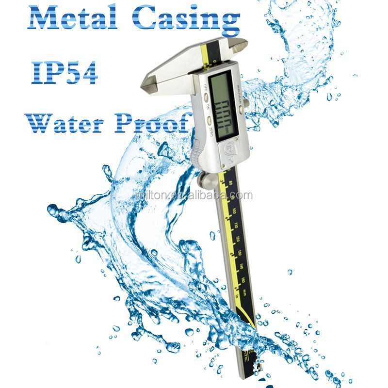 IP54 waterproof metal casing stainless steel electronic digital caliper
