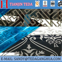 etching mirror/black hairline/No.4/BA/embossed/checkered aisi304 stainless steel sheet