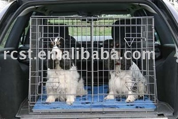 car used metal dog cage crate