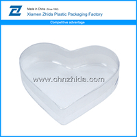 New Arrival transparent plastic heart shaped gift box