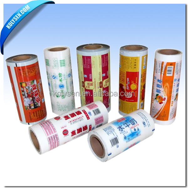 Laminated Printed Drinking Water Sachet Pouch Film In Roll