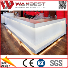led bar table refrigerated bar counter
