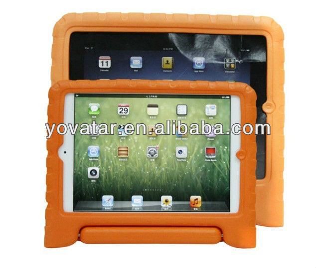 New EVA Foam for Custom iPad Case/for Custom iPad Carrying Case/for Custom Logo iPad Case Orange