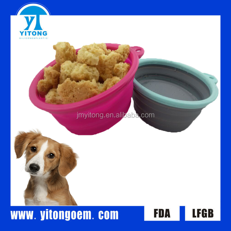 2016 yitong hot sale promotional item foldable silicone pet bowls for dog