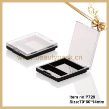 square cosmetic compact powder case
