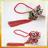 Factory outlet Lovely Zinic Alloy Chinese Style Keychains for Car Hanging Ornament RE 077