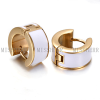 Simple Style Stainless steel hoop earrings from china factory