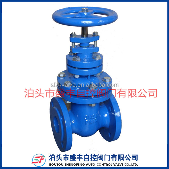 shengfeng BS CAST IRON NON-RISING STEM PN10 METAL SEATED GATE VALVE BS5163