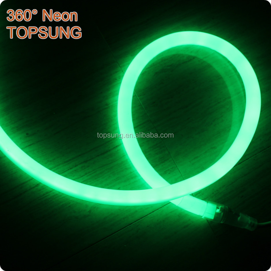 120v round led neon flex ultra thin SMD2835 waterproof 360 degree led neon rope