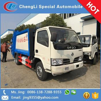 Hot selling LHD or RHD 5 ton garbage truck with rubbish compactor