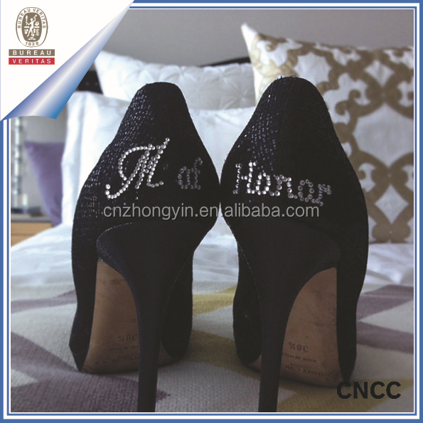 Custom adhesive rhinestone sticker acrylic sticker for wedding shoes
