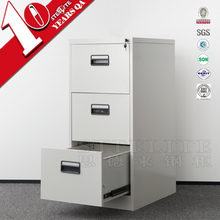 White Color Office Corner Closet Vertical 3 Drawer File Cabinet