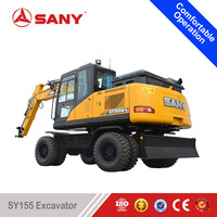 SANY SY155 15 Tons Small Wheel Excavator rc Hydraulic Excavator for Sale with ISO Certification