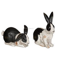 Set of Wholesale Resin Animal Rabbit Figurines Statue for Home Decor