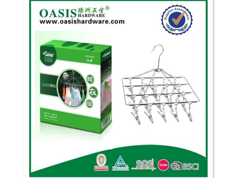 clothes hangers,multifunctional hangers,dry hangers 24sets of clips YZ2144S