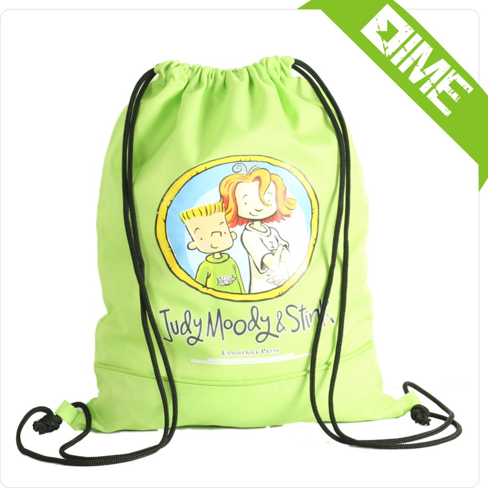 China Distributors Green School Bags Foldable Small Backpack