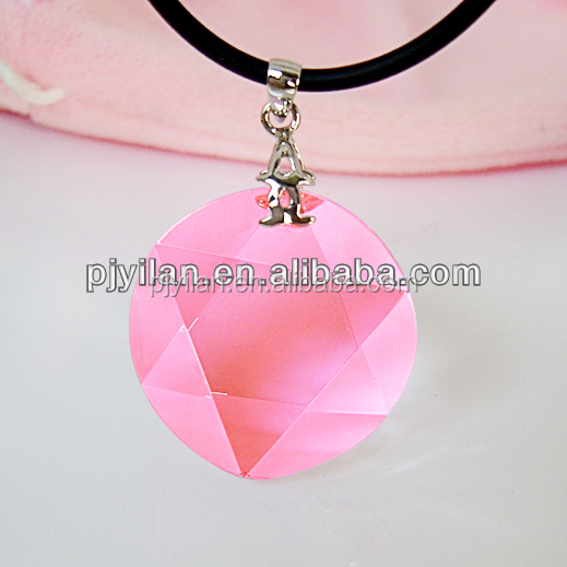 nice crystal round brilliant pendant engraved round pendant