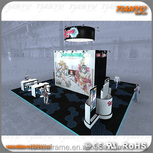 China exhibition booth fabric restaurant booth exhibition booth design