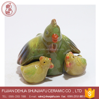 Family Ceramic Animal Decor Hen and chicken Figurines