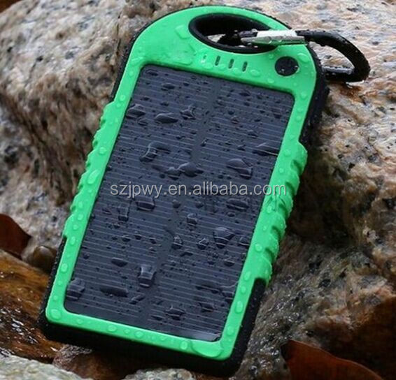 Power bank 5000 mah for galaxy s5 lipstick mobile phone portable power bank high quality waterproof solar power bank