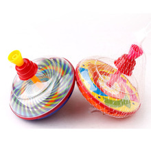 Plastic spin toy press peg top toys 11*12cm