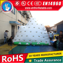 inflatable iceberg watere toy rock climbing wall