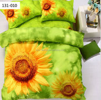 100% cotton babies sunflowers crib printed bedding set