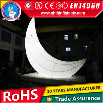 10m high giant inflatable light moon ball model