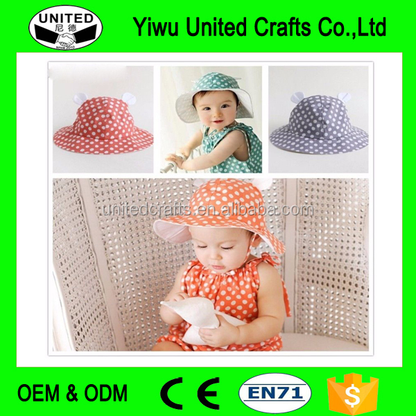 Cotton Dot Pattern Baby Hat Baby Boy Girl Sun Hats Bucket Hat Summer Cap Bonnet