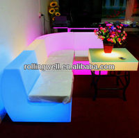 colorful fashionable led plastic sofa for party,club,home