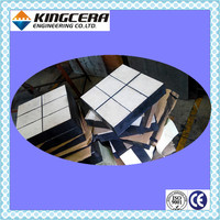 Abrasion resistant domed alumina ceramic rubber panel