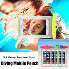 MOQ:10PCS!!! Waterproof Mobile Bag Diving Bag~PVC Underwater Bag for Swimming ,Diving~Glowing in the Night