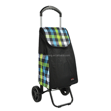 YY-37X-6 Hot quality manufacture elastic frame shopping Foldable Trolley hand cart with side bags