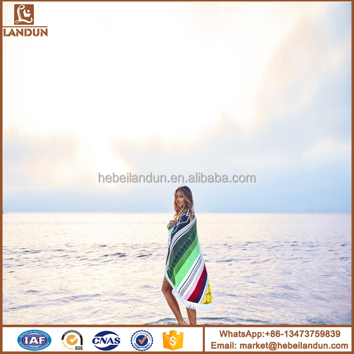 Buy wholesale direct from china custom round beach towel, microfiber towel beach