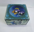 custom printed flower butterfly glass jewelry box, classic design