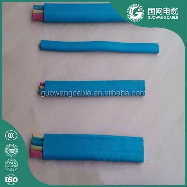 2017 good price flat submersible pump cable manufacturer made in China