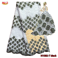Latest Polyester Fabric Net Lace For Ladies Suit N1092