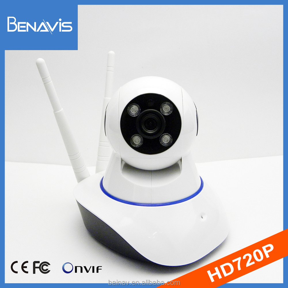 1080X720 portable array led remote pan tilt operated wifi baby camera
