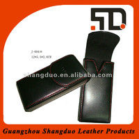 Hot Sale Genuine Leather Mobile Phone Bag With Flap Cover