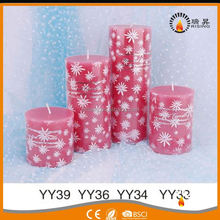 RISING many colors home decorations art scented candle wholesale paraffin candle wax