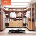 Wholesale china custom modern-style floor stand luxury provided wooden bedroom U shape walk-in closet design