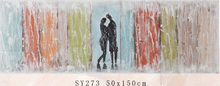 Handpainted canvas couple abstract oil painting
