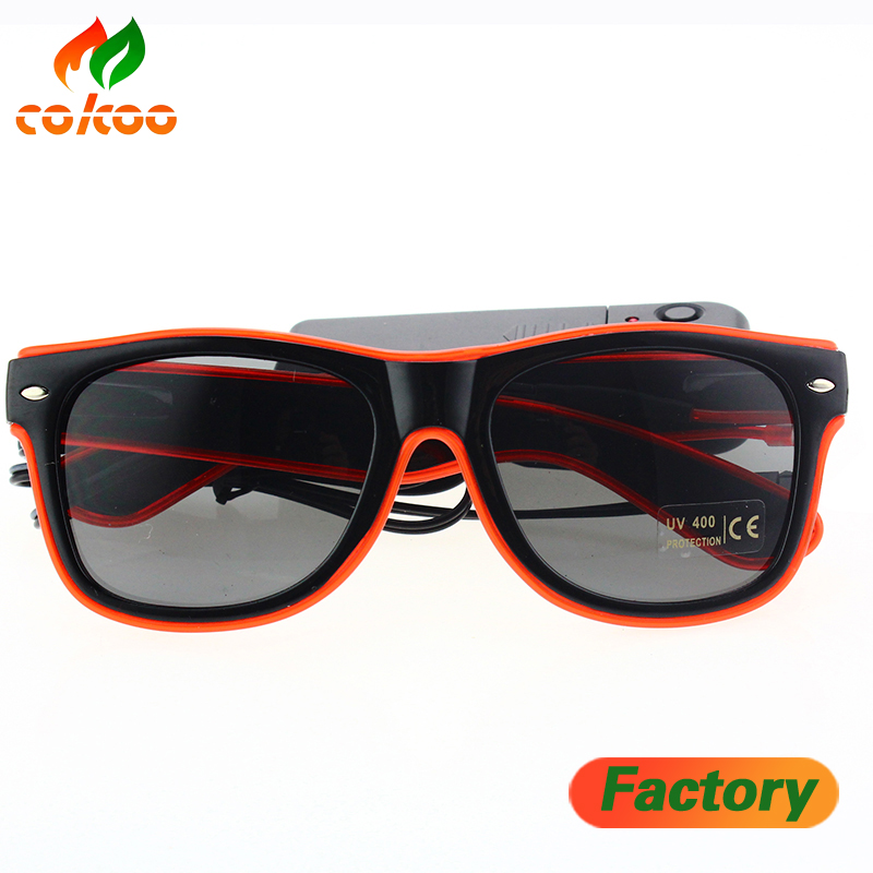 led glasses Multi-color LED EL Wire Glasses promotional sale flashing light up el glasses