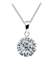 Free shipping Vintage Crown CZ Necklaces & Pendants Gold Plated Fashion Brand Jewelry For Women Chains Accessiories