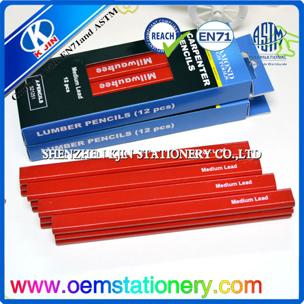 paper box packaging carpenter pencils bulk