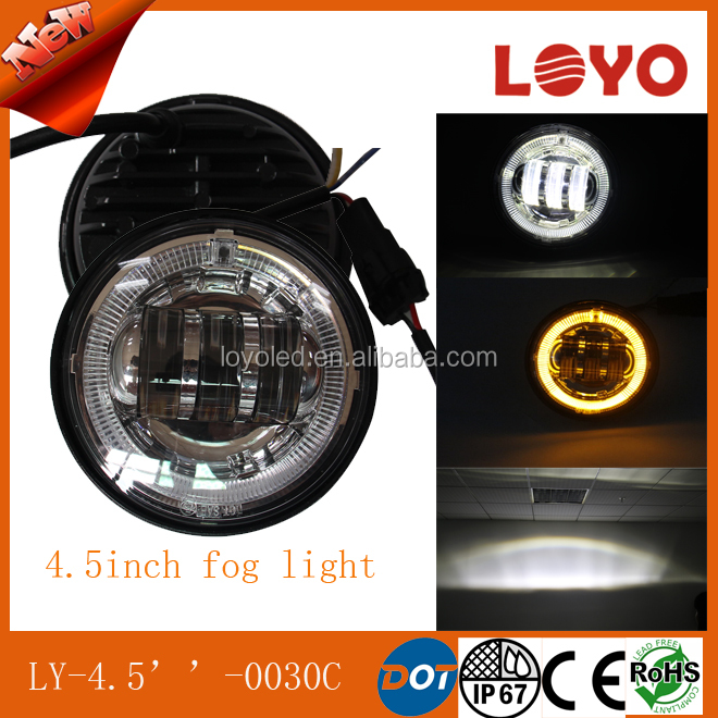 DOT led fog light 4.5'' for Harley Motorcycle LED FOG Lights for harley bike