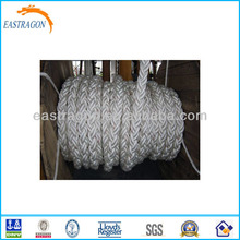 Mooring Rope for Ship Boat 8 Strands PP/PE/Nylon