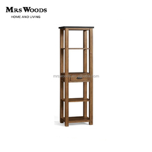 solid tall wooden bookcase