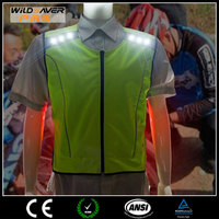 Women pro LED cycling jersey jacket with lights